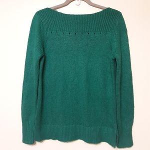 LOFT Ribbed Boat neck Sweater  Size M